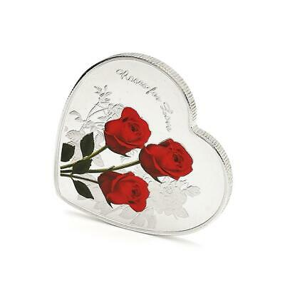 Love Rose Metal Commemorative Coin Valentine's Day Gift HOT SALE