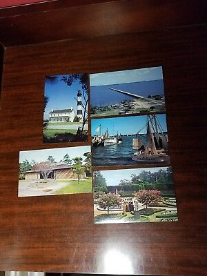 North Carolina NC Outer Banks Postcards Vintage  Lighthouse. Lot of 5.NEW