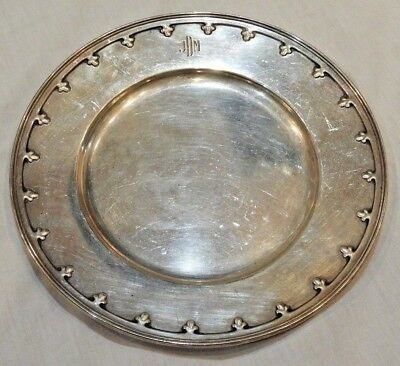 "Antique Tiffany & Co. Sterling Silver Plate 6 1/4"" Diameter"