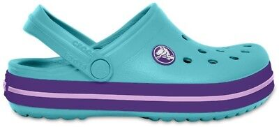 Crocs Crocband Kids Clogs - Ice Blue UK 9 EU 25-26 JS180 RR 05