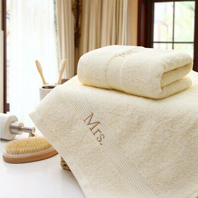 Couple Cotton Embroidery Water Absorption  Letter Printed Towel ONE