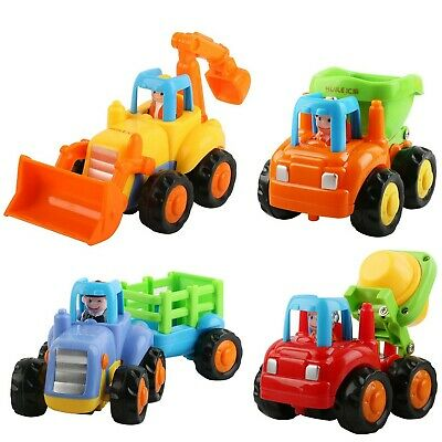 Eloka Toddler Car Toy, Friction Powered Push and Go Mixer Truck Vehicles Set ...