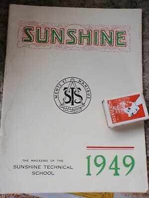 Sunshine Technical school 1949 magazine 40 pages