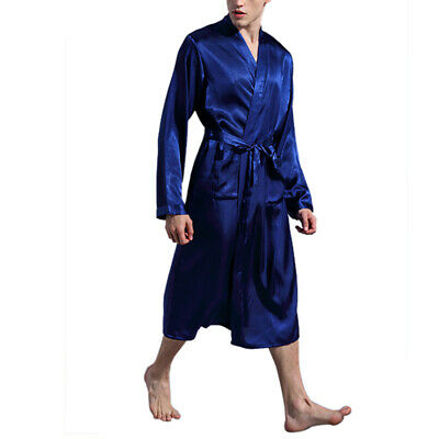 Mens Soft Silk Satin Pajamas Set pajamas for Men Big and Tall Sleepwear Gift
