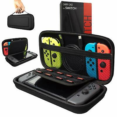 Nintendo Switch Console Black Travel Bag Carry Case With 10 Game Storage GH