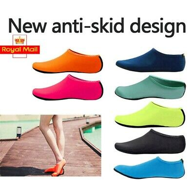 Unisex Aqua Shoes Mens Womens Kids Water Socks Slip On Sea Wet Beach Swim Surf H