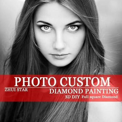 """5D DIY Diamond Embroidery Full Square """"Custom Painting"""" own photo"""