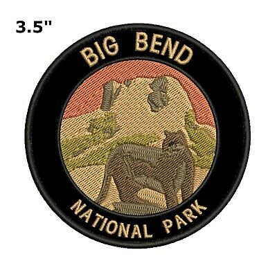 Big Bend National Park Patch Travel Souvenir Embroidered Iron or Sew-on Explore