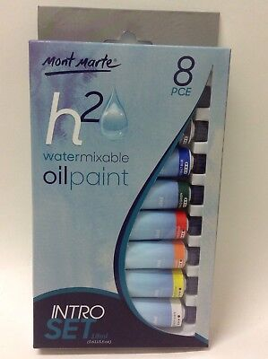 Watermixable oil paint - 8pce