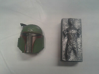Star Wars Han Solo in carbonite Boba Fett magnets one pair