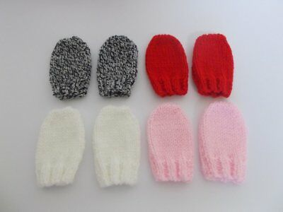 Hand Knitted Baby Mittens Baby Mittens 0-3 months