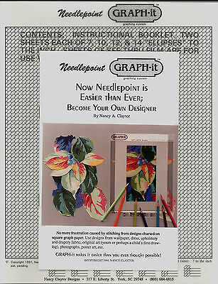 Graph-It Needlepoint Graphing System Your Own Designer Kit Graph Nancy Claytor