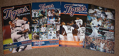 2011 2012 2013 2014 Detroit Tigers ALDS Magazine SGA Playoff Programs Comerica !
