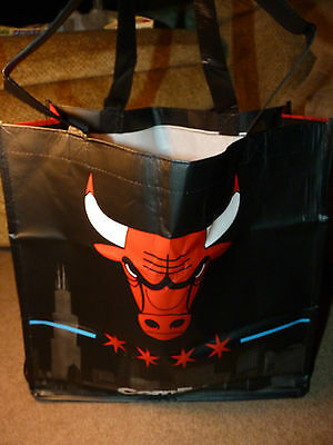NEW 2012 2013 CHICAGO BULLS Folding Reusable TOTE BAG NBA United Center ConEd !!