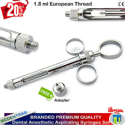 Dentist Self Aspirating Syringe 1.8ml Dental Anesthesia Injection Three Rings CE