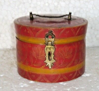 Old Beautiful Painted Box Hand Crafted Hand Painted Box