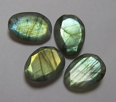 35.60 Cts Natural Labradorite Faceted 4 Piece Lot Fancy Loose Gemstone B 1384