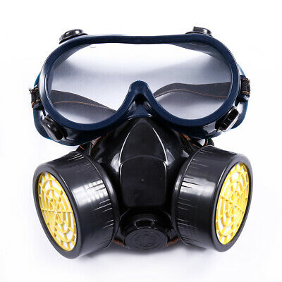Breathable Gas Dust Mask Double Filter Face Eye Spray Painting Guard Protector