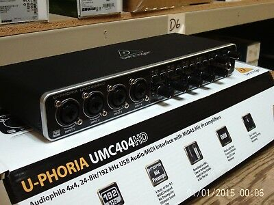 Behringer UMC404HD Audio/MIDI interface with MIDAS Preamplifiers