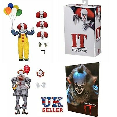 "UK 7"" NECA Stephen King's IT Pennywise Clown 1990 Ultimate Action Figure Toys"