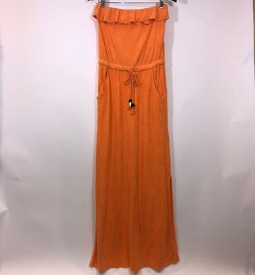 2e446a9be6 Juicy Couture Women s Small Dress Maxi Strapless Terry Cloth Drawstring  Pockets
