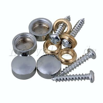 8pcs Mirror Nails Advertisement Decorative Stainless Steel Silver Screw Caps
