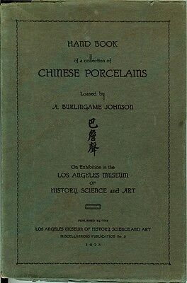 Hand Book of a Collection of Chinese Porcelains by A. Burlingame Johnson [1923]