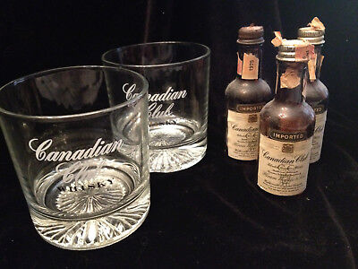 44c154d90347c VINTAGE CANADIAN CLUB Whisky (Whiskey) Rock Glass With Starburst Cut ...