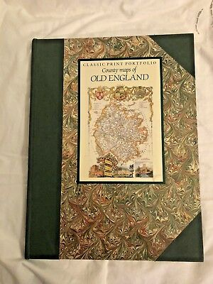 7 County Maps of Old England Framing Surry London Yorkshire Prints to Frame