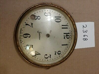 Antique Sessions Tambour Mantle Clock Dial And Bezel With Glass