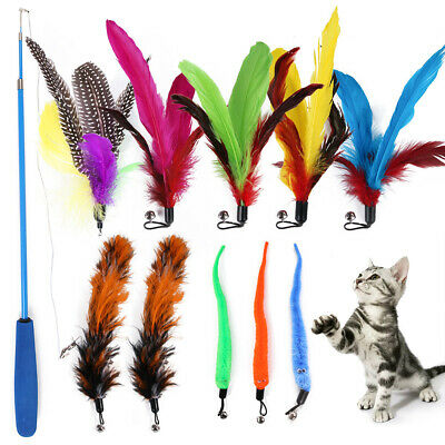 Cat Toy Plush Replacement Kitten Pet Dogs Teaser Funny Play Interactive Feather