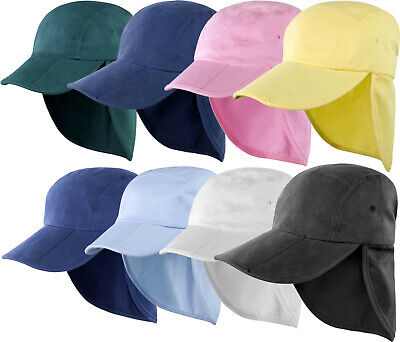 Result Safari Cap Fold Up Legionnaire Hat Mens Womens Adults Summer Hat