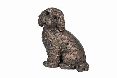 Jasper Sitting Cockapoo Frith Sculpture By Adrian Tinsley Cold Cast Bronze AT041