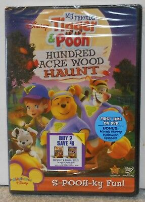My Friends Tigger Pooh Hundred Acre Wood Haunt (DVD 2008) RARE NEW W BUENA STAMP