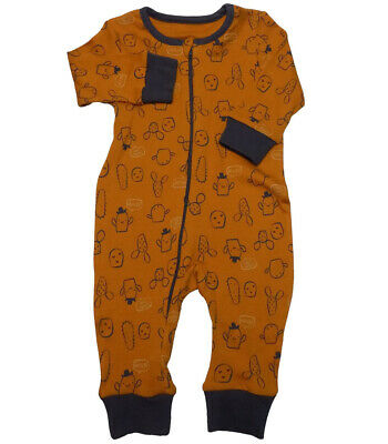 Baby Boys All Over Print Romper Sleepsuit all in one Cactus  NB - 9/12mths