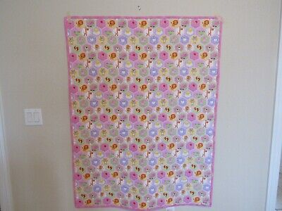 Flannel Baby Quilt - One-of-A-Kind Adorable - 100% Hand Stitched -Just Completed