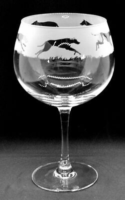 GREYHOUND FRIEZE GLASS GIN BALLOON (Boxed)