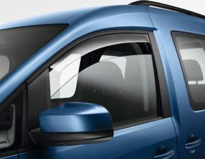 New Genuine Volkswagen Caddy 04> Door Wind Deflectors Front 2K0072193B