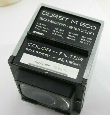 DURST M600 ENLARGER Head Reprovision Mirror Box - No filter drawer - USED  F39