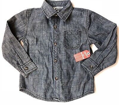 003dca22c The Original Arizona Jeans CO Toddler Boy Button Down Shirt 24 Month NWT