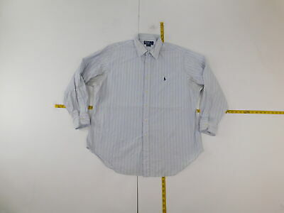 Boys Polo Ralph Lauren 17 1/2 35/35 Regular  Button Front Shirt Blue  Andrew