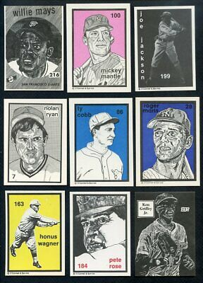 1984-91 O'connell Lot 40 Diff W Mays Mantle Cobb Joe Jackson 357012 (Kycards)