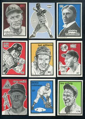 1984-91 O'connell Lot 39 Diff W Clemente Rose Mantle Gehrig 357013 (Kycards)