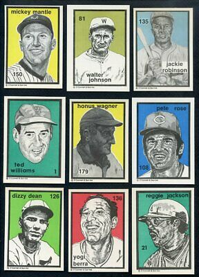 1984-91 O'connell Lot 42 Diff W Mantle Williams Wagner Berra 357010 (Kycards)