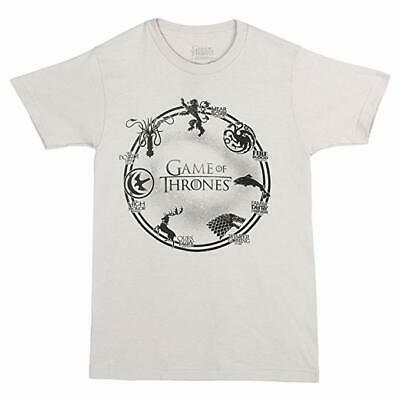 Game Of Thrones SEVEN HOUSES CIRCLE - HOUSE SIGILS RING T-Shirt NWT S-3XL