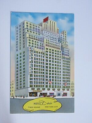 Hotel Dixie in Times Square NEW YORK City Vintage Chrome Postcard