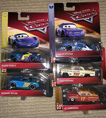 Disney Cars Diecast 2019 Richie Gunzit Carl Clutchen Michael Rotor