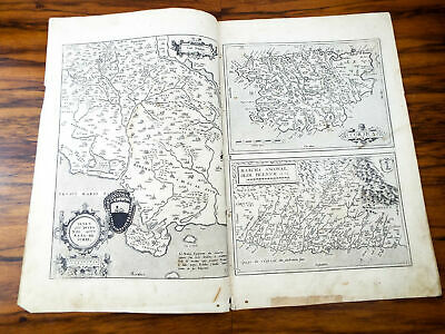 Antique 16th C Map Of Marca Ancona Corsica 1573 Abraham Ortelius Original Map