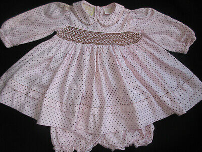 32e887e1bb801 Baby Girl's Size 9M *carriage Boutiques* L/s Polka Dot Dress & Bloomers