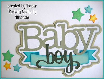 CAT/'S MEOW title paper piecing  Premade Scrapbook Pages ALBUM DIE CUT by Rhonda